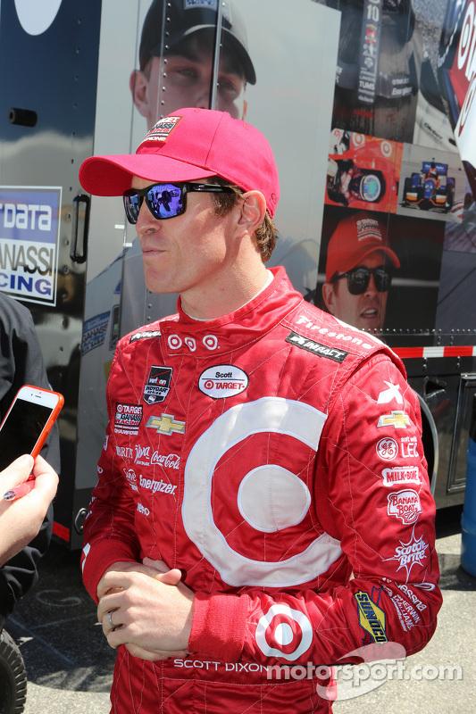 Scott Dixon, Chip Ganassi Racing talks to the media