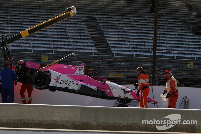 Das Unfallauto von Pippa Mann, Dale Coyne Racing Honda