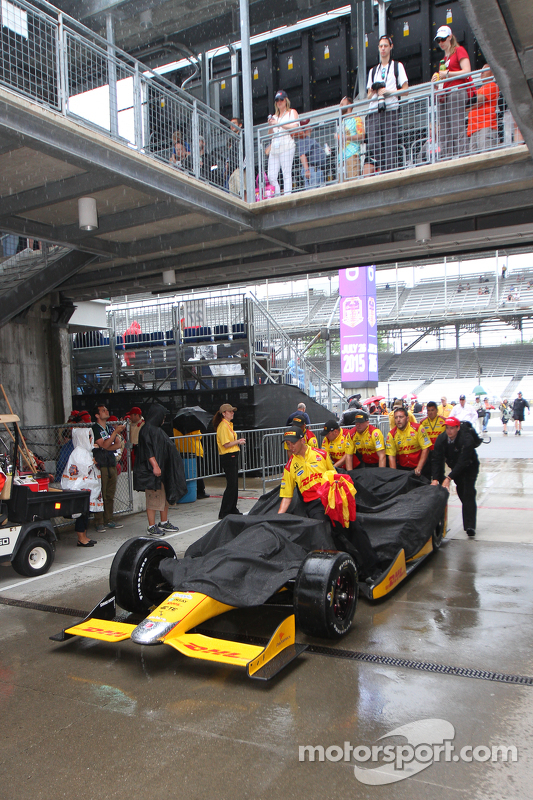 Rain at the Indianapolis Motor Speedway