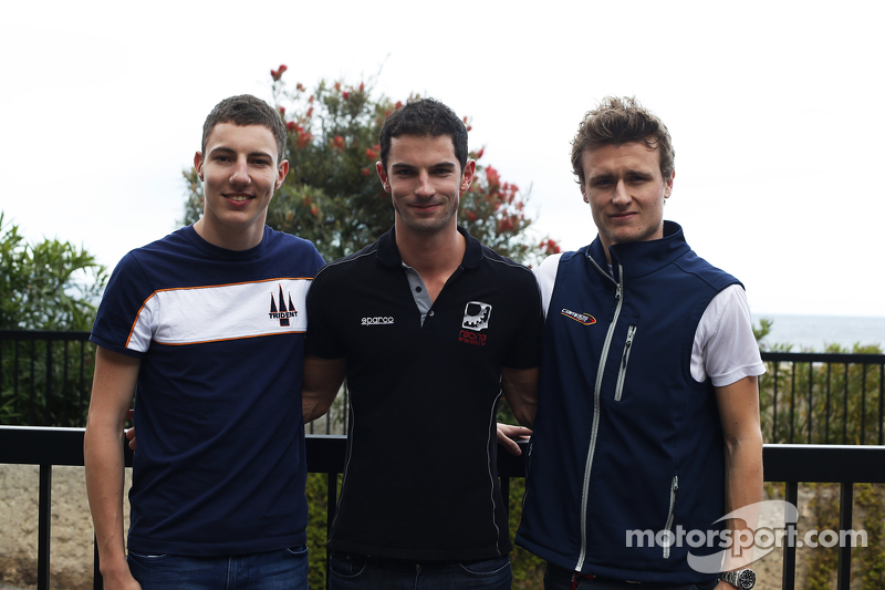 Polesitter Alexander Rossi, Racing Engineering and Raffaele Marciello, Trident and Arthur Pic, Campos Racing