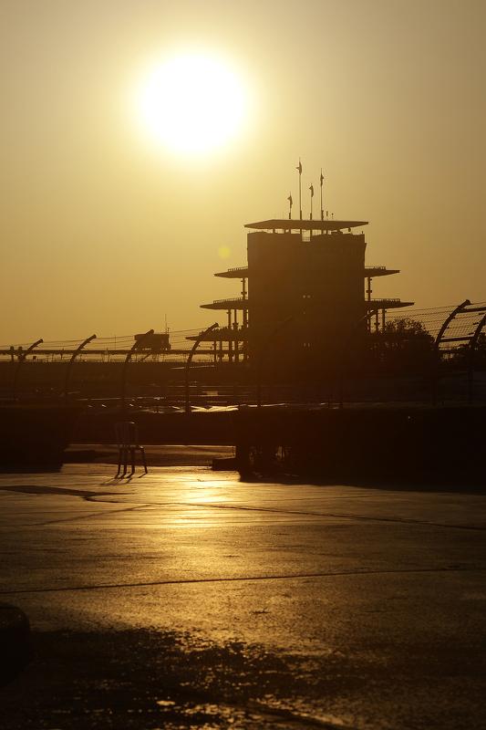 Sonnenaufgang am Indianapolis Motor Speedway