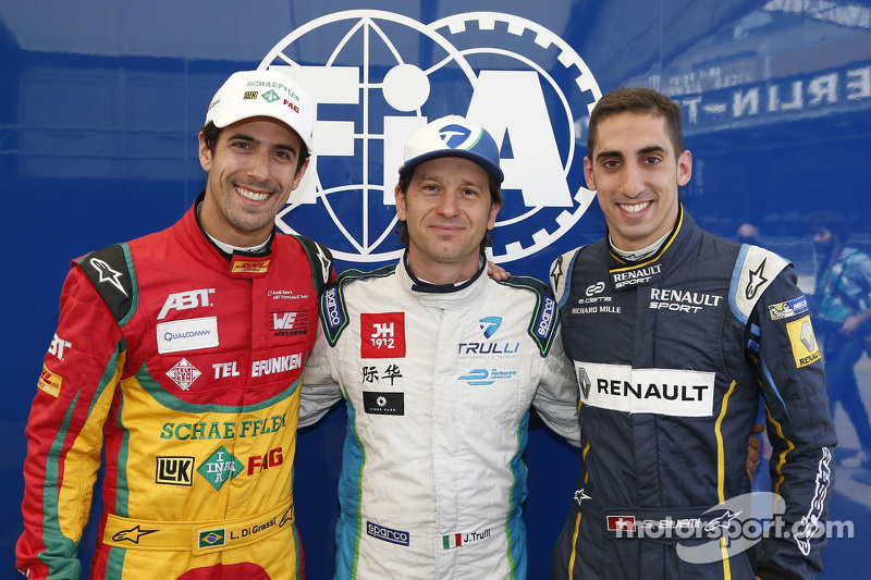 Pole-Sitter: Jarno Trulli mit Lucas di Grassi und Sébastien Buemi
