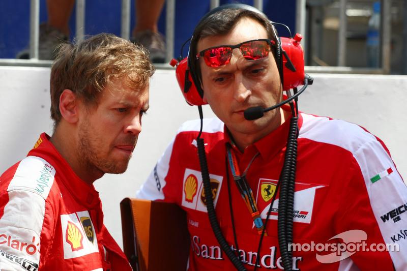 Sebastian Vettel, Ferrari, in der Startaufstellung