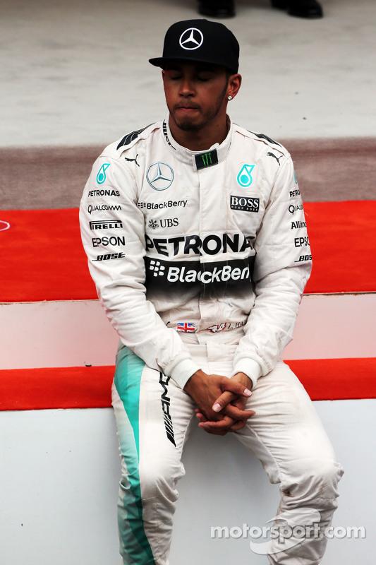 Lewis Hamilton, Mercedes AMG F1 no pódio