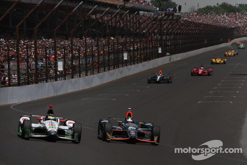 Sebastien Bourdais, KVSH Racing, und Ed Carpenter, CFH Racing, Chevrolet