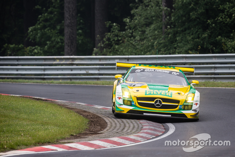 #31 Car Collection Motorsport Mercedes-Benz SLS AMG GT3: Peter Schmidt, Alexander Mattschull, Pierre