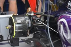 Detail suspensi belakang Red Bull RB11