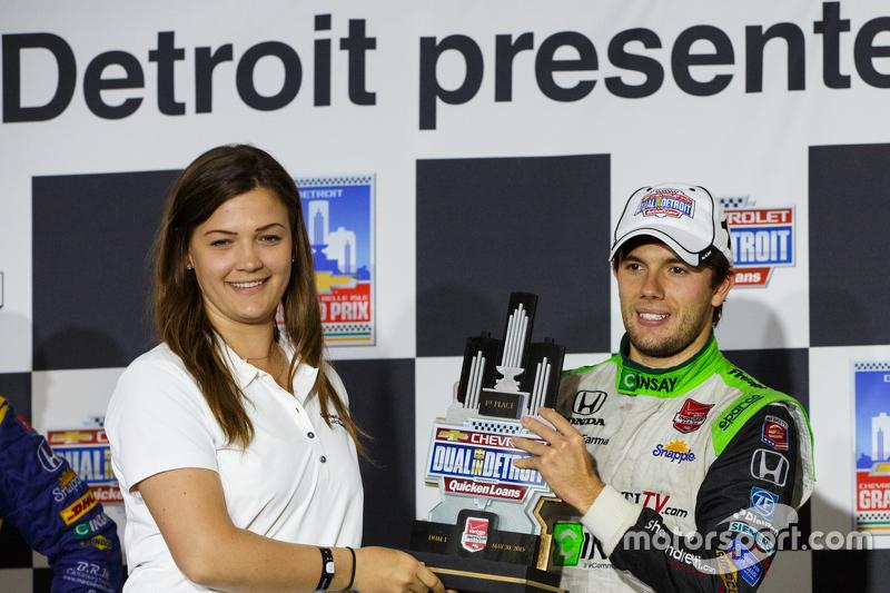 Podium: 1. Carlos Munoz, Andretti Autosport, Honda