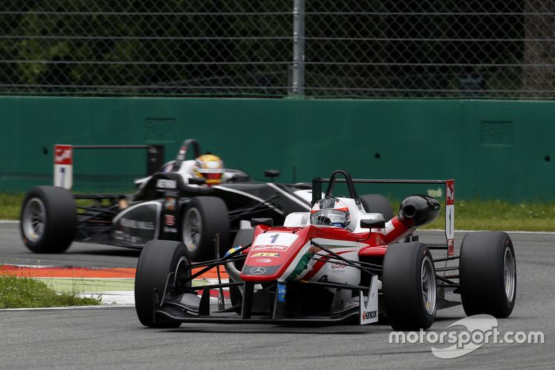 Felix Rosenqvist, Prema Powerteam, Dallara Mercedes-Benz, und Charles Leclerc, Van Amersfoort Racing, Dallara Volkswagen