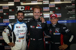 Qualifying: third place Stefano Comini, SEAT Leon, Target Competition, Kevin Gleason, Honda Civic TC