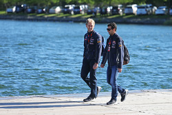 Daniel Ricciardo, Red Bull Racing, mit Stuart Smith, Red Bull Racing, Physiotherapeut