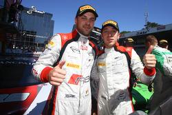 Race winners Robin Frijns, Laurens Vanthoor