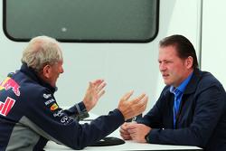 Доктор Хельмут Марко, консультант Red Bull Motorsport и Йос Ферстаппен