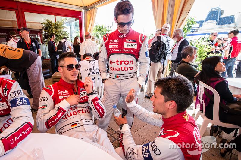 Audi Sport Team Joest: danre Lotterer, Filipe Albuquerque dan Loic Duval