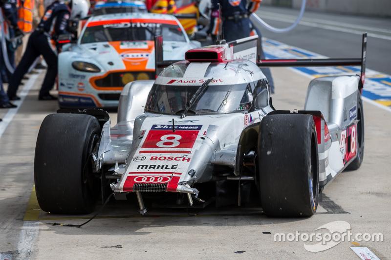 Masalah untuk #8 Audi Sport Team Joest Audi R18 e-tron quattro: Lucas di Grassi, Loic Duval, Oliver Jarvis