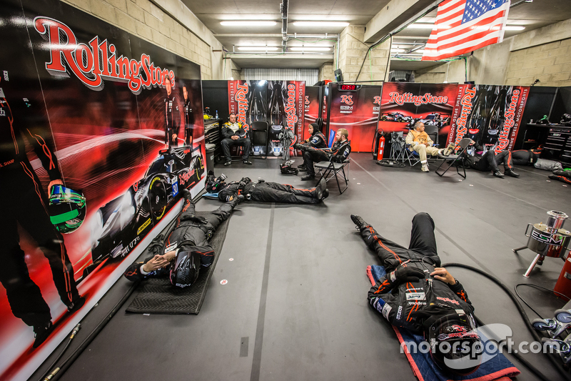 Extreme Speed Motorsports team members take sleep between pit stops