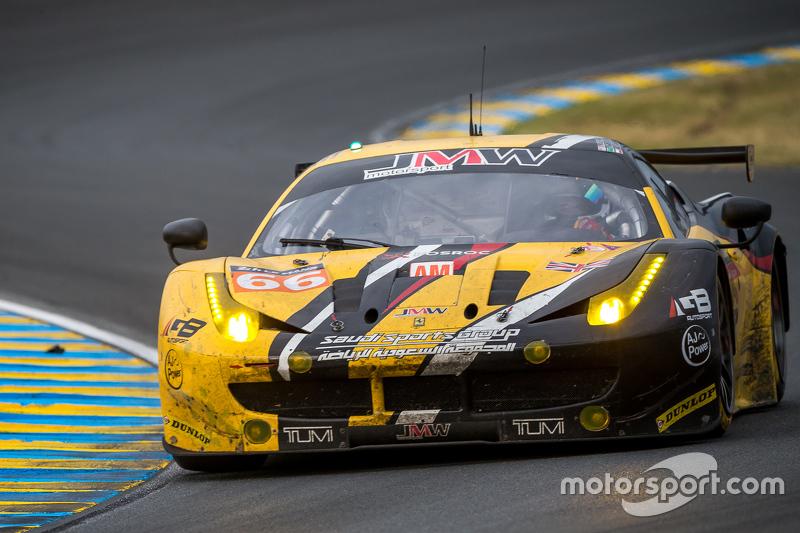 #66 JMW Motorsport, Ferrari 458 GTE: Abdulaziz Al Faisal, Jakub Giermaziak, Michael Avenatti