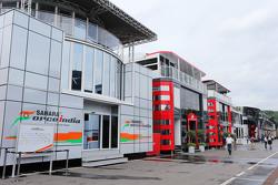 Sahara Force India F1 Team motorhome di paddock