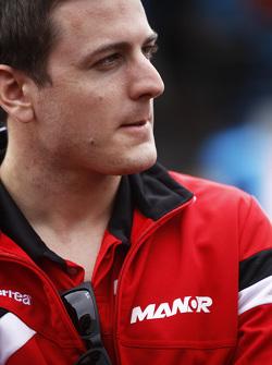 Fabio Leimer, en el paddock de GP2