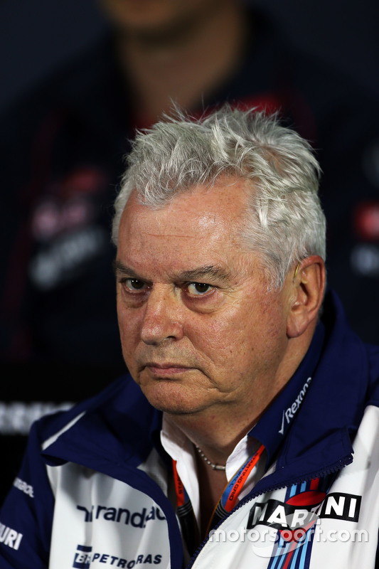 Pat Symonds, Williams na coletiva de imprensa da FIA