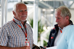 Dietrich Mateschitz, CEO and Founder of Red Bull with Dr Helmut Marko, Red Bull Motorsport Consultant