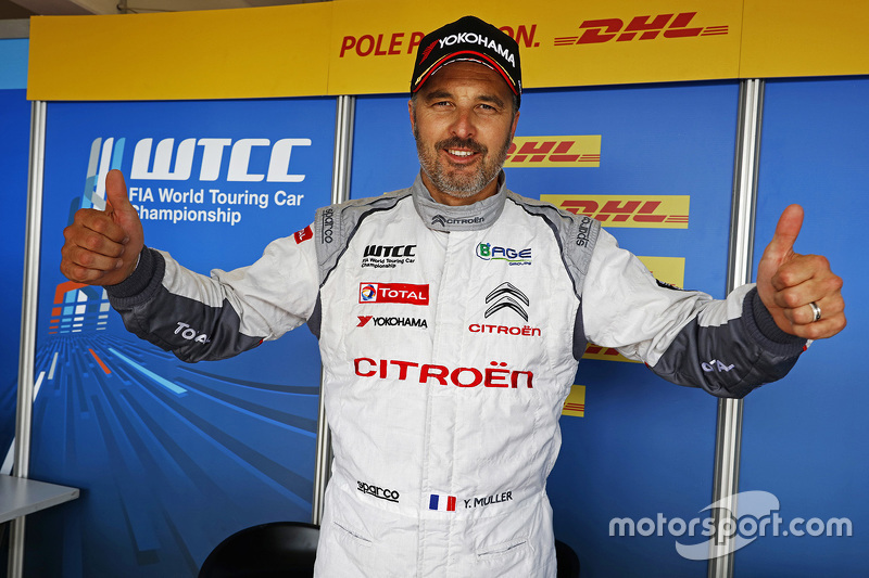 Pole-Sitter: Yvan Muller, Citroën C-Elysée WTCC, Citroën World Touring Car Team