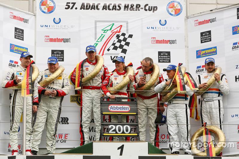 Podium: 1. Klaus Abbelen, Patrick Huisman, Sabine Schmitz; Frikadelli Racing Team