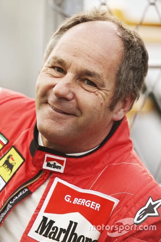 Gerhard Berger bei der Legendenparade