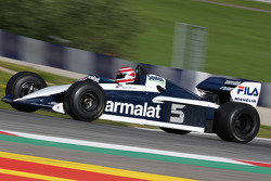Nelson Piquet, di Brabham BT52 di Legends Parade