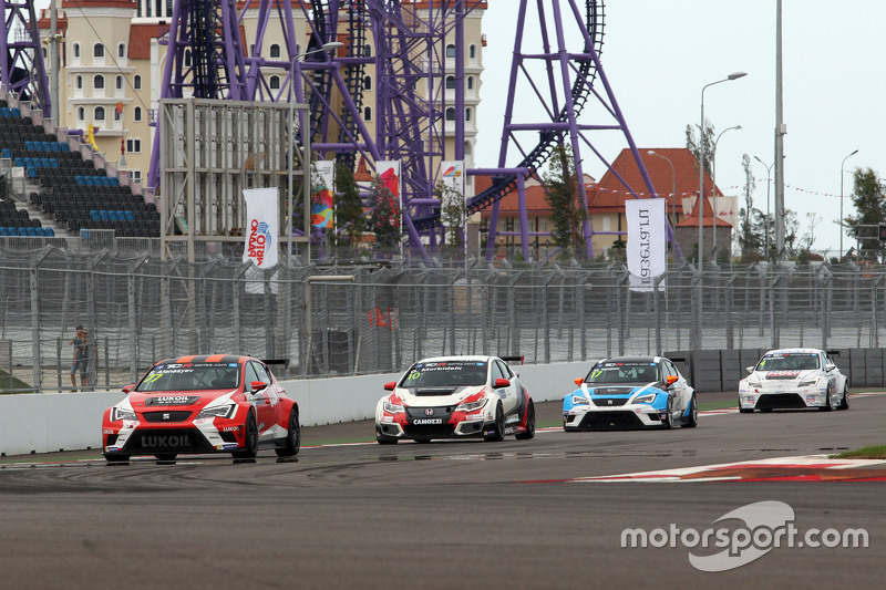 Sergey Afanasyev, SEAT Leon, Craft Bamboo Racing LUKOIL, und Gianni Morbidelli, Honda Civic TCR, West Coast Racing