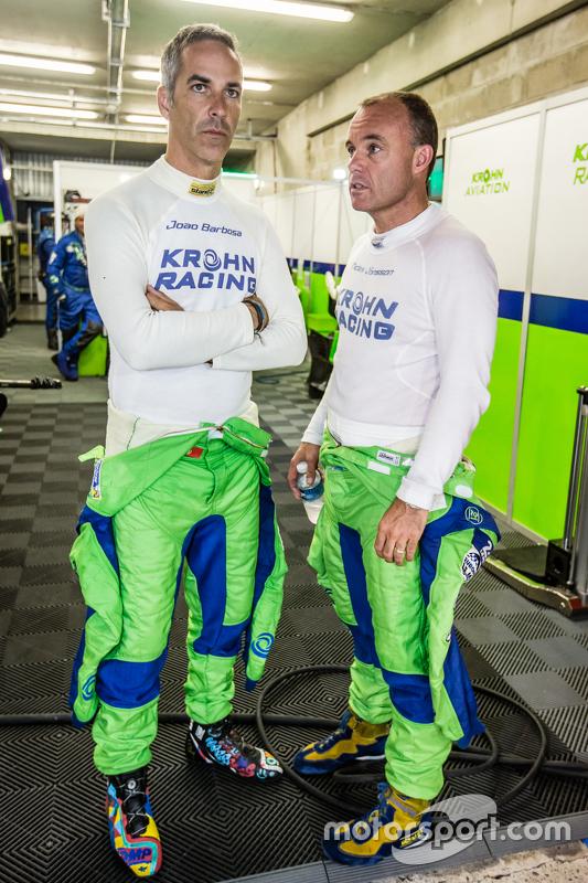 #40 Krohn Racing Ligier JS P2: Joao Barbosa dan Nic Jonsson