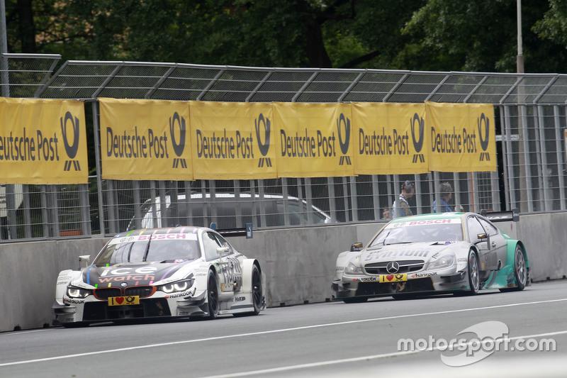 Марко Віттман, BMW Team RMG BMW M4 DTM, Даніель Хункаделла, Mücke Motorsport Mercedes-AMG C63 DTM