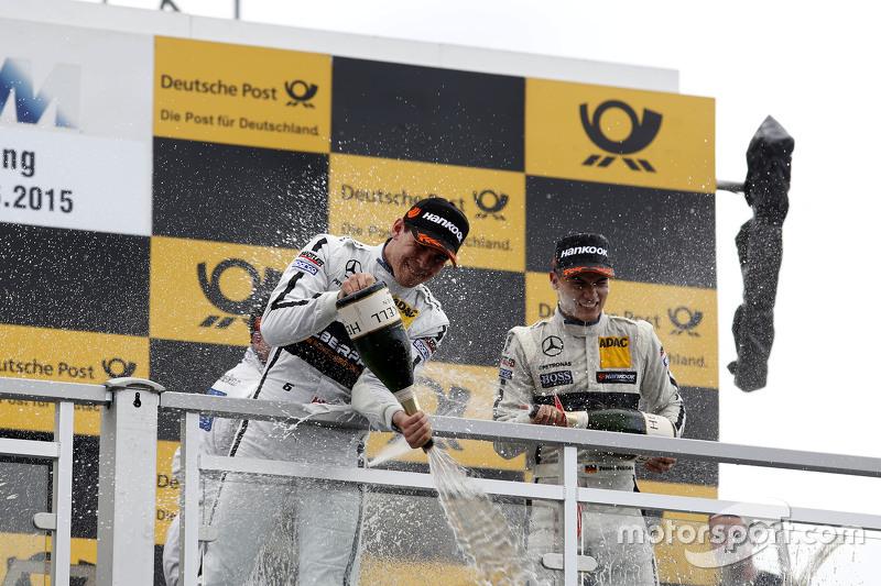 Podium: Robert Wickens, HWA AG, Mercedes-AMG C63 DTM, und Pascal Wehrlein, HWA AG, Mercedes-AMG C63 DTM
