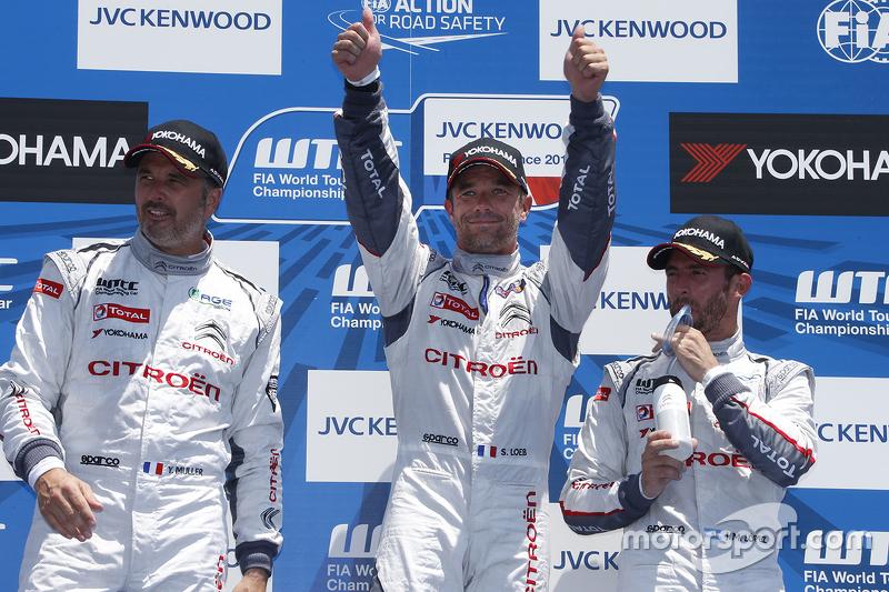 Podium: 1. Sébastien Loeb, 2. Yvan Muller, 3. Jose Maria Lopez