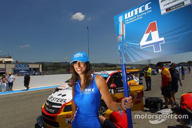 grid girl dari Tom Coronel, Chevrolet RML Cruze TC1, ROAL Motorsport