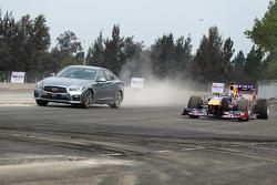 Daniel Ricciardo, Red Bull Racing, testet den neuen Grand-Prix-Kurs in Mexiko