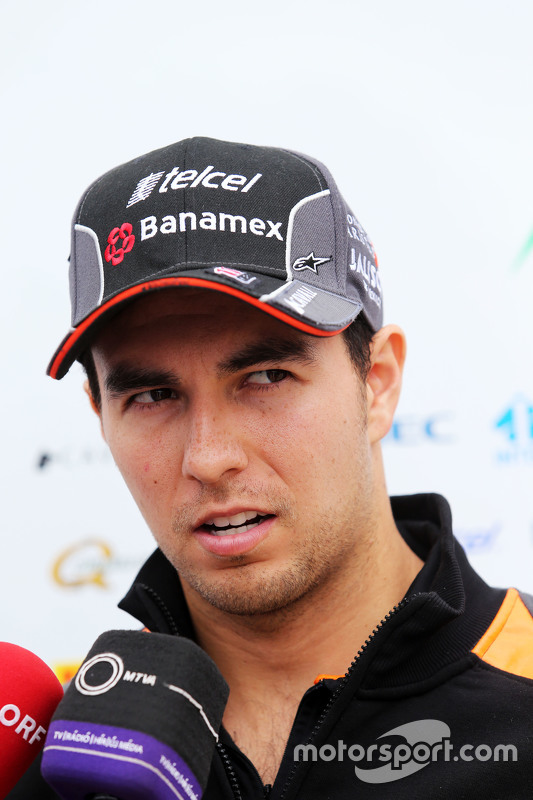 Sergio Perez, Sahara Force India F1 dando entrevistas