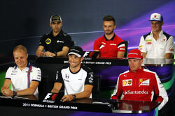 Conferenza Stampa FIA : Pastor Maldonado, Lotus F1 Team; Will Stevens, Manor F1 Team; Marcus Ericsso