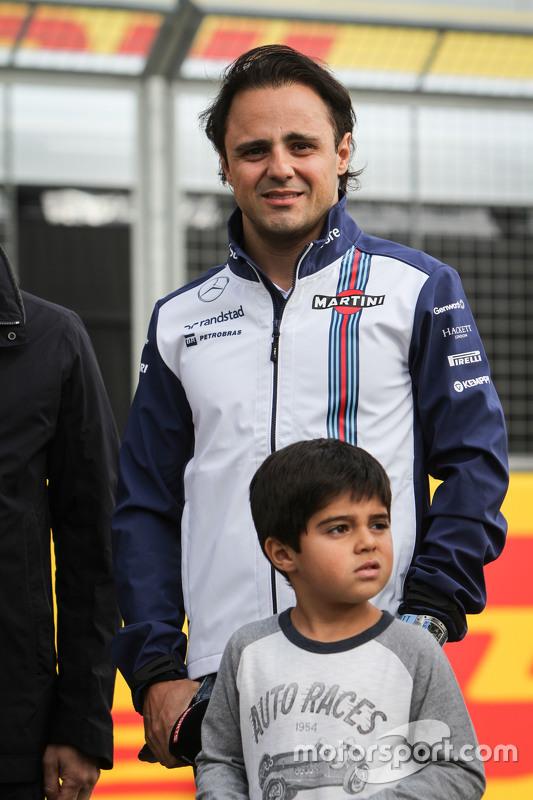 Felipe Massa, Williams com seu filho Felipinho Massa