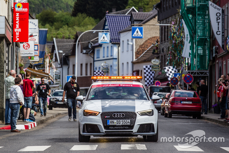 Race cars parade in Adenau