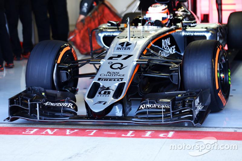 Nico Hulkenberg, Sahara Force India F1 VJM08 front wing