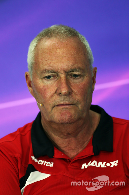 John Booth, Manor F1 Team Team Principal in the FIA Press Conference