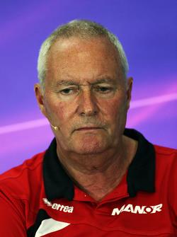 John Booth, Manor F1 Team, Team Principal lors de la conférence de presse de la FIA