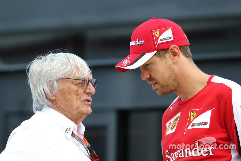 Bernie Ecclestone, e Sebastian Vettel, Scuderia Ferrari
