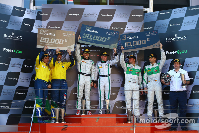 Podium: race winners Maximilian Buhk, Vincent Abril, second place Valdeno Brito, Atila Abreu, third place Marco Seefried, Norbert Siedler