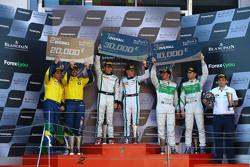 Podium: race winners Maximilian Buhk, Vincent Abril, second place Valdeno Brito, Atila Abreu, third place Marco Seefried, Norbert Siedler