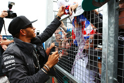 Lewis Hamilton, Mercedes AMG F1 with the fans