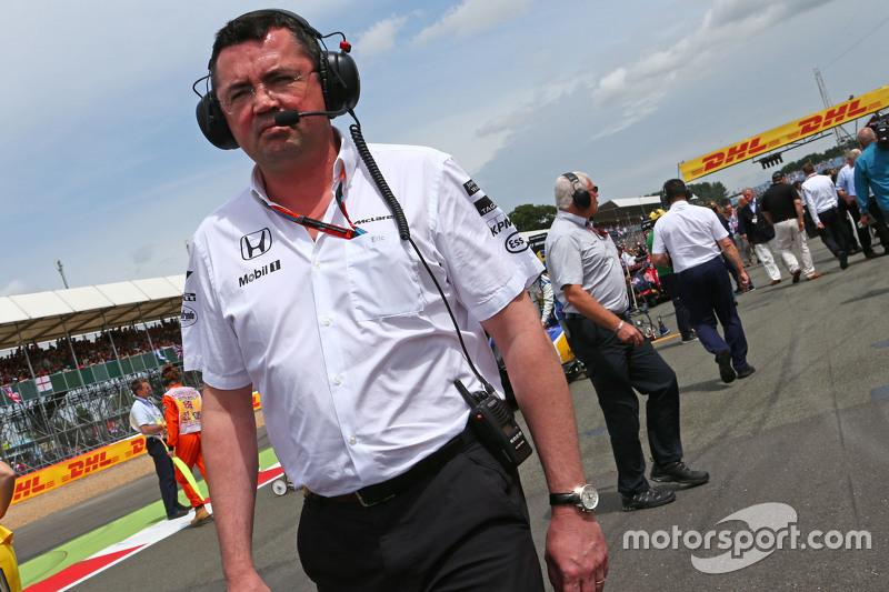 Eric Boullier, McLaren Racing Director on the grid