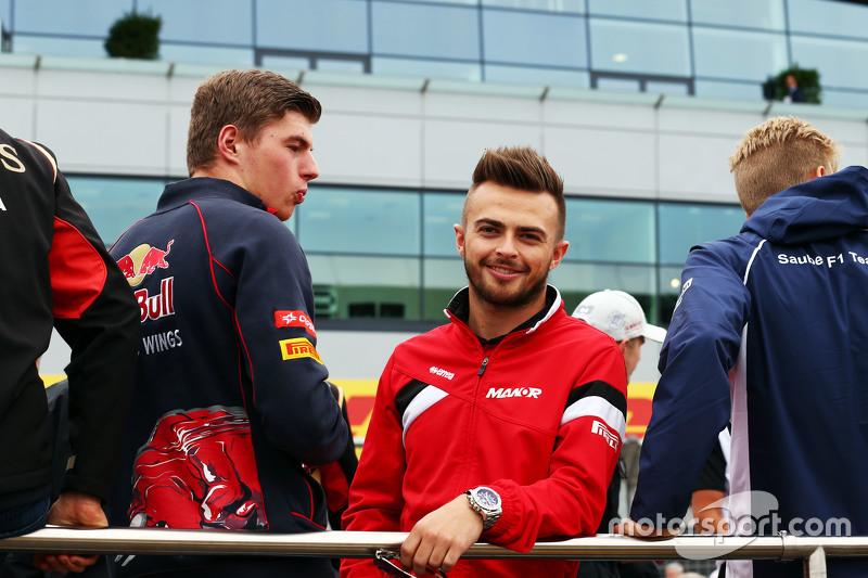 Max Verstappen, Scuderia Toro Rosso, mit Will Stevens, Manor F1 Team, bei der Fahrerparade
