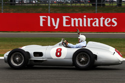 Stirling Moss, in the Mercedes W196